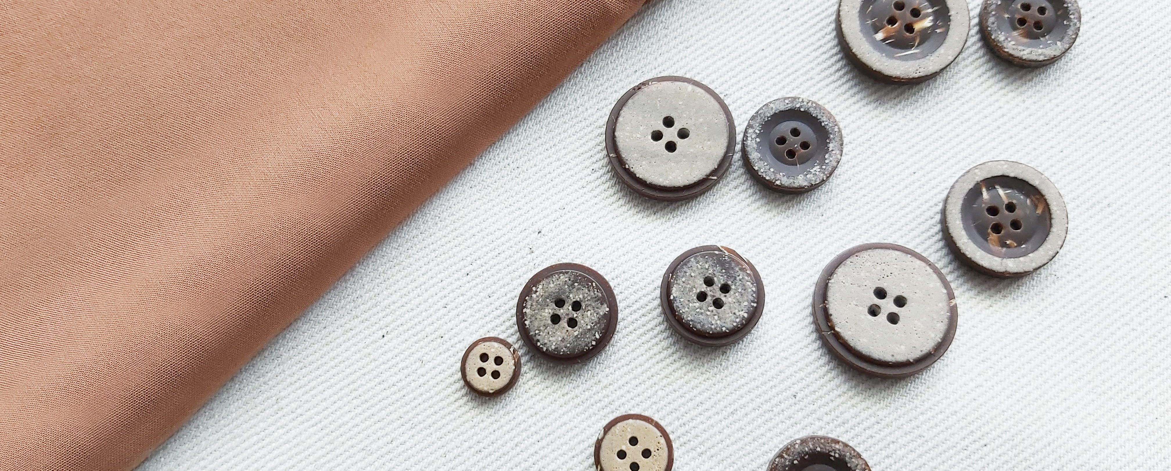 Koala recycled buttons, reeco buttons, recycled, sustainable work