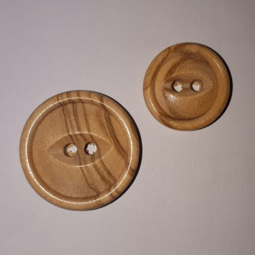 Olive wood button